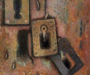 Serie PUERTAS (II) Óleo sobre lienzo 61 x 50 cm. 1987